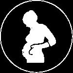 Pregnant Lady Logo White